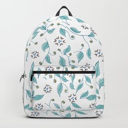 Blooming Hearts Flower Pattern Backpack