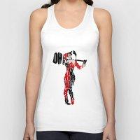 harley quinn Tank Tops featuring Harley Quinn by Ayse Deniz