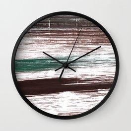 Brown striped Wall Clock
