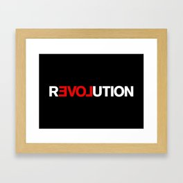 REVOLUTION! Framed Art Print