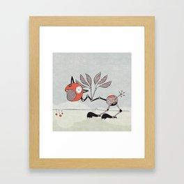 Shrieky Red Framed Art Print