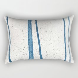 Parallel Universe [vertical]: a pretty, minimal, abstract piece in lines of vibrant blue and white Rectangular Pillow