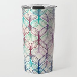 Mermaid's Braids - a colored pencil pattern Travel Mug