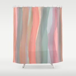 Peachy Watercolor Shower Curtain