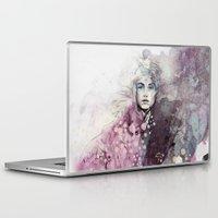 fashion illustration Laptop & iPad Skins featuring FASHION ILLUSTRATION 15 by Justyna Kucharska