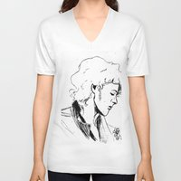 enjolras V-neck T-shirts featuring Enjolras by Pruoviare