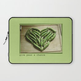 Give Peas a Chance Laptop Sleeve