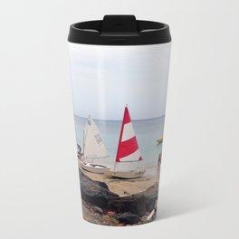 Sailboats by the Sea Metal Travel Mug