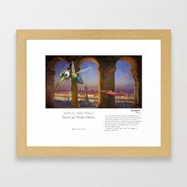 """Budapest"" en Mots & Image (French touch) by Matylda Konecka Framed Art Print"