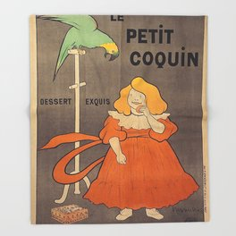 Vintage poster - Le Petit Coquin Throw Blanket