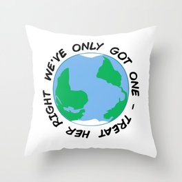 Earth Day 2019 Throw Pillow