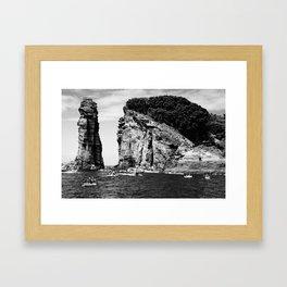Cliff Diving event Framed Art Print