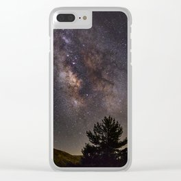 Milkyway at the mountains. Saggitarius Antares and Rho Ophiuchus Clear iPhone Case