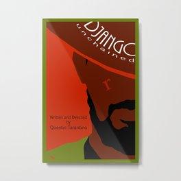 Django Unchained minimalist movie poster Metal Print