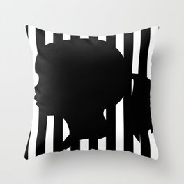 Girl Cameo Silhouette  Throw Pillow