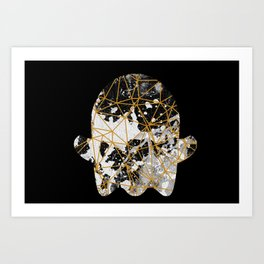 Emoji ghost abstract with splash Art Print