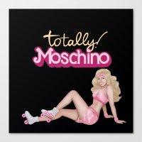moschino Canvas Prints featuring MOSCHINO SKATER BARBIE by RickyRicardo787