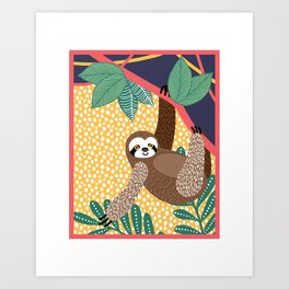 Sloth of the jungle Art Print