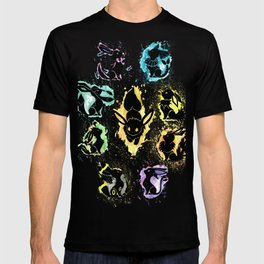 Eeveelution Splash Silhouette T-shirt