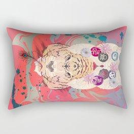 Peace Tiger Pepe Psyche Rectangular Pillow