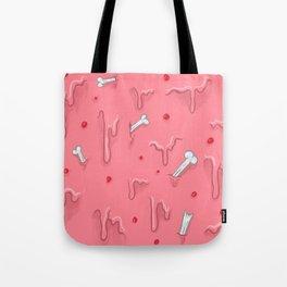 Gummy Grime with Bones Tote Bag