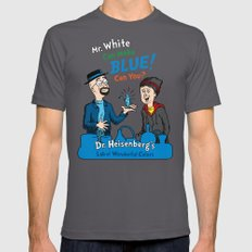 Mr. White Can Make Blue! Mens Fitted Tee LARGE Asphalt