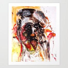 Forlorn Fingerpainting Art Print