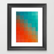 Beach Pixel Surface Framed Art Print