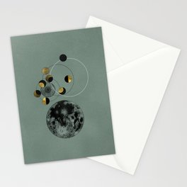 Green Moon Stationery Cards