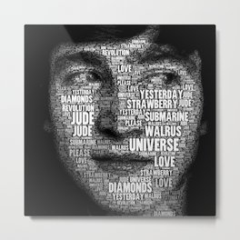 The Fab Four Songs - John Metal Print