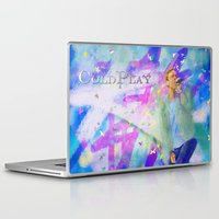 coldplay Laptop & iPad Skins featuring Chris Martin-Coldplay-Digital Impressionism by Sophie Grace