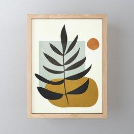 Soft Abstract Large Leaf Framed Mini Art Print
