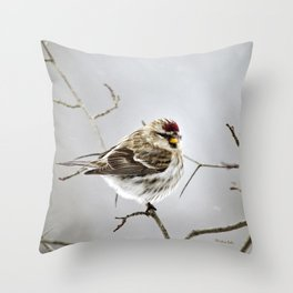 Solitary Bird Throw Pillow