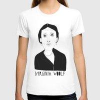 virginia T-shirts featuring Virginia Woolf by Elena Éper