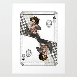 Queen of Brains Art Print