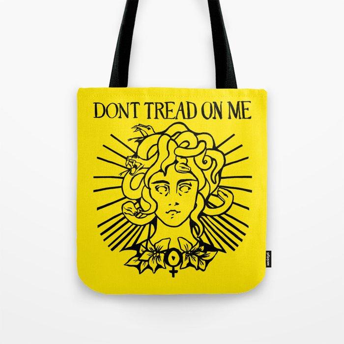 Medusa: Don't Tread On Me (Yellow) Tote Bag