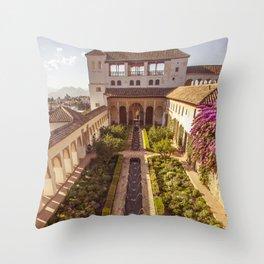 #laAlhambradeldia 114 Throw Pillow