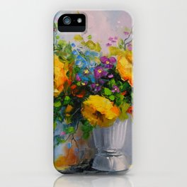 Bouquet de fleurs jaunes iPhone Case