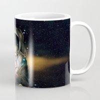 astronaut Mugs featuring Astronaut by J ō v