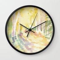 forrest Wall Clocks featuring Forrest by Susie McColgan