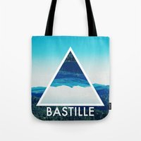bastille Tote Bags featuring BASTILLE by Hands in the Sky