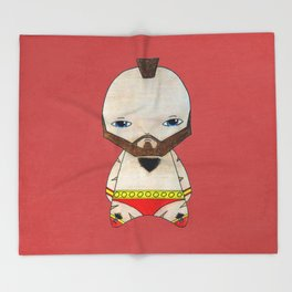 A Boy - Zangief Throw Blanket