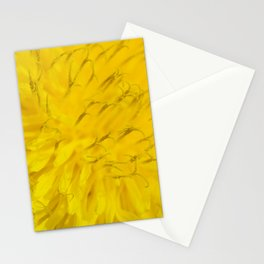 Dandelion flower in extreme close up. Stationery Cards