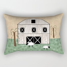 Primitive Barn Rectangular Pillow