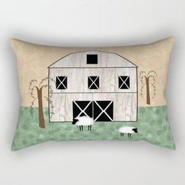 Primitive Barn Rectangular Pillow
