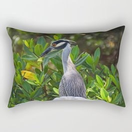 Yellow-crowned Night Heron II Rectangular Pillow