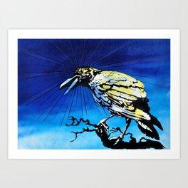 Radiation Crow study Art Print