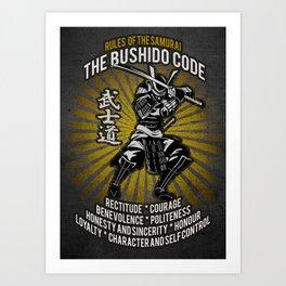 Samurai Bushido Code, Ronin, Musashi Art Print