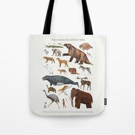 Animal chart of the Holocene extinction Tote Bag