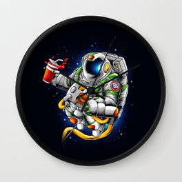 Fat astronaut need more space Wall Clock